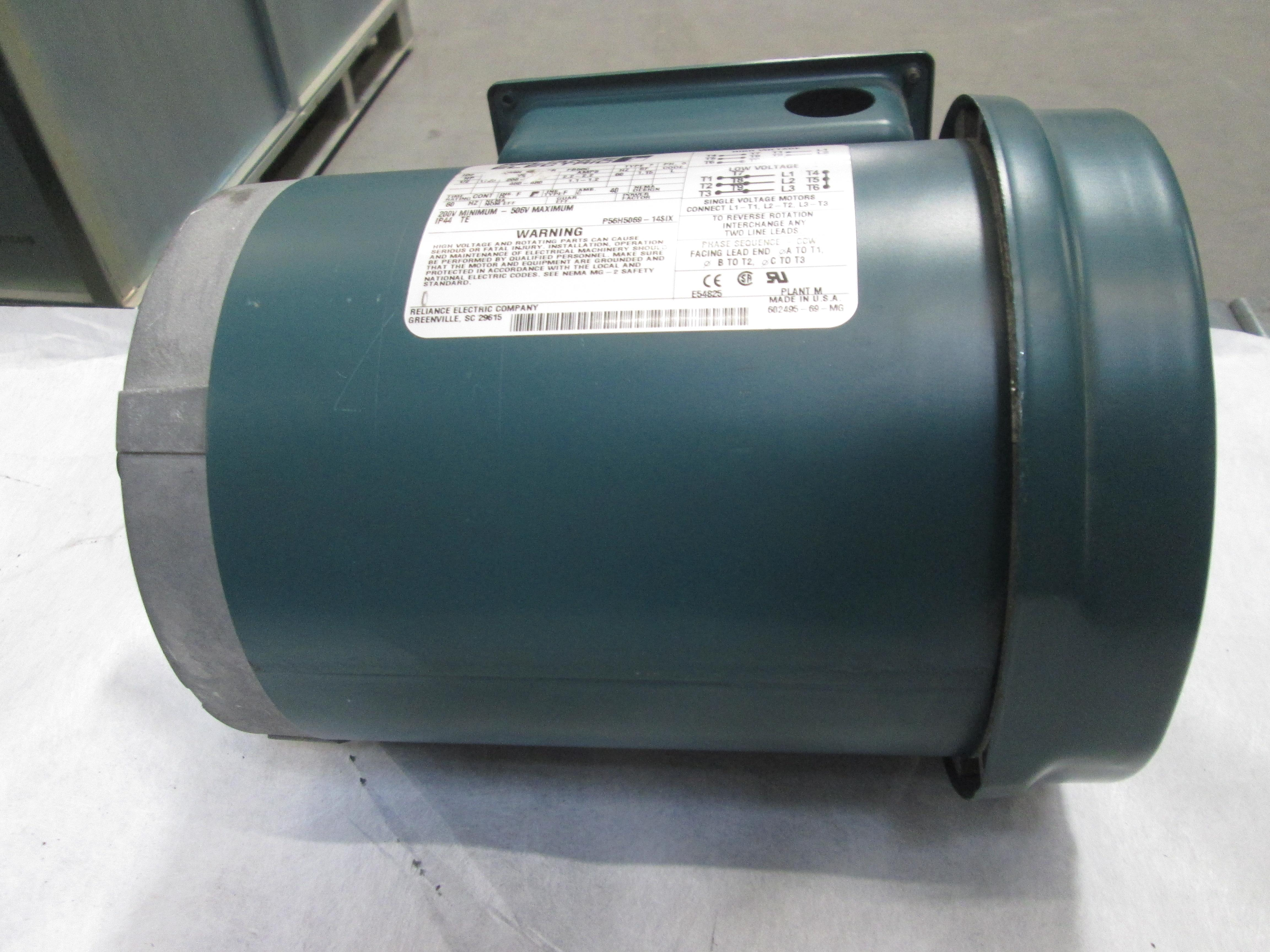Reliance Electric P56h5069h 1 2 Hp Ac Motor Frame Fb56c